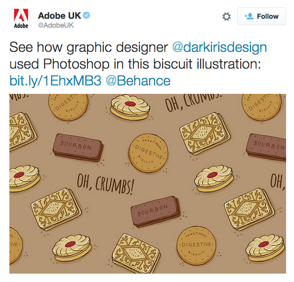 Adobe Tweeted Darkirisdesign Illustration