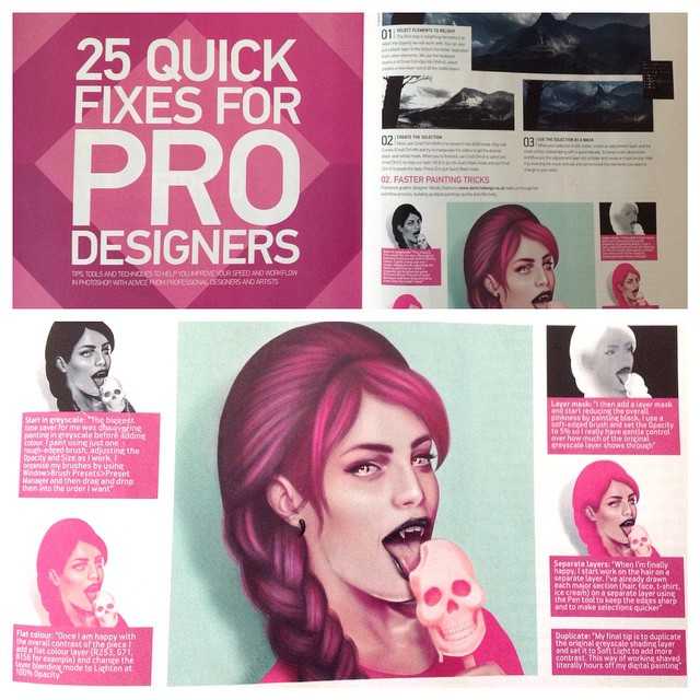 Wendy Stephens Artist Featured In Advanced Photoshop Mag