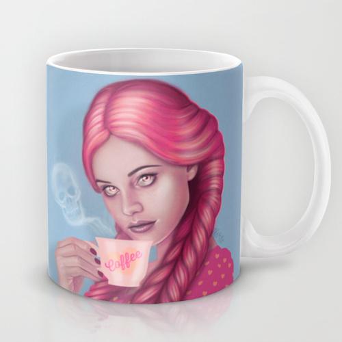 My Blood Type is Coffee Mug by Wendy Stephens